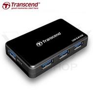 創見 Transcend 極速 USB 3.0 4埠 HUB 集線器 TS HUB3K 附變壓器 二年 保固