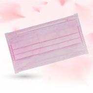 成人平面型醫用口罩(櫻花粉)-50入 /單片包裝