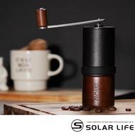 【索樂生活】Driver  精鋼原木多段式迷你磨豆機(手搖磨豆機 咖啡研磨機 原木磨豆器 咖啡磨粉器)