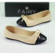 รองเท้าส้นแบน  999-24 คัชชูหน้าโบว์ หนังนิ่ม FAIRY รองเท้าคัดชู รองเท้าคัทชู หนัง หญิง ส้นกลมสูง องเท้าดำ รองเท้าชุมชน รองเท้าพยาบาล รองเท้าส้นเตี้ยหัวตัด แบบเปิดส้น รองเท้า คัชชูเจลลี่ รองเท้าผู้หญิง สวย นุ่มสบายเท้า
