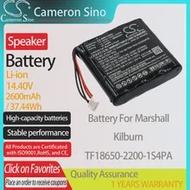 CameronSino แบตเตอรี่สำหรับ Marshall Kilburn เหมาะกับ Marshall TF18650-2200-1S4PA ลำโพงแบตเตอรี่2600MAh/37.44Wh 14.40V Li-Ion สีดำ