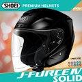 [安信騎士] 日本 SHOEI J-FORCE IV 素色 黑 半罩 安全帽 3/4 四分之三 眼鏡溝