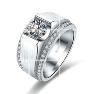 鑽戒  指環  男戒指  莫桑石  婚戒  男戒指個性求婚結婚 男款婚戒 鑽戒純銀指環 訂莫桑石