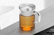 特價(玫瑰rose984019賣場)玫瑰個人(不銹鋼濾網)玻璃泡茶杯450cc~辦公室水杯.有把花茶杯.耐熱150度綠茶