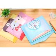 可愛卡通 LINE 熊大 兔兔  哆啦A夢  小小兵 杯麵 資料夾  考卷夾  文件夾 文件袋 票據收納袋