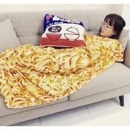 現貨1件~無力炸醬麵抱枕 抱枕毯子 禮物 空調毯 泡麵抱枕 毛毯 毯子