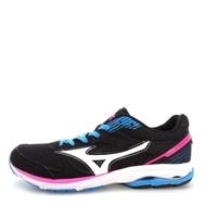 【MIZUNO 美津濃】Mizuno Wave Aero 16    女鞋 運動 走路 跑步 氣墊 避震 休閒 美津濃 黑白(J1GB173503)
