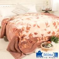 【米夢家居】鳴球100%澳洲美麗諾拉舍爾 純羊毛毯(200*230CM)-山戀茶花