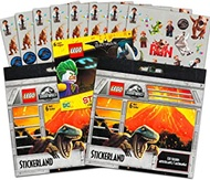 Lego Jurassic World & Batman Stickers Party Supplies Set ~ 18 Lego Batman & Lego Jurassic Park Party Favors Sheets (350+ Stickers)
