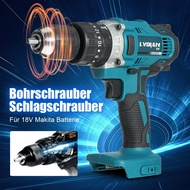 Multifunction 90Nm Cordless Drill Driver Impact Drill Screwdriver For 18V Makita Battery