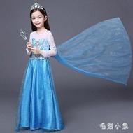 2019新款韓版冰雪奇緣公主裙花童禮服兒童連身裙女童洋裝 JA4568