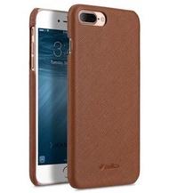 Melkco. - Apple iPhone 8 Plus / 7 Plus 十字紋仿皮手機背殼 (啡色)