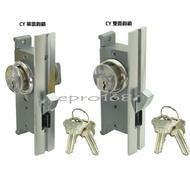 CY清源鋁門鎖鉤鎖 把鉤/雙鉤 扁匙/卡巴匙 推門適用  鋁門鎖  埋入式