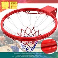 標準18吋雙層金屬籃球框(含籃球網)標準籃框架.耐用籃筐架子籃網.Basketball hoop金屬籃架不含籃球板.打籃球類運動用品.推薦專賣店哪裡買ptt)B004-1729