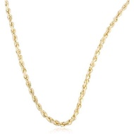 """10K Yellow Gold 2mm D-cut Rope Chain Necklace - 16"""" 18"""" & 20"""" Available (18 Inc..) (GO-889)"""