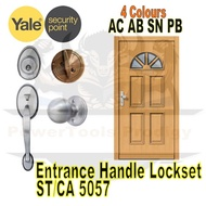 YALE SECURITY ENTRANCE LOCKSET FOR MAIN DOOR / 4 DIFFERENT COLOURS / AB AC PB SN