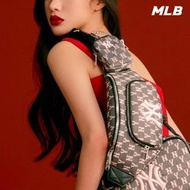 【MLB】黑色MONOGRAM老花腰包 子母包 紐約洋基隊logo(32BGCA111-50L)