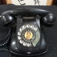 早期古董美人旋轉式電話轉盤式電話撥盤式電話古董電話仿古電話擺飾