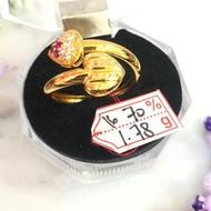 70% Gold Ring 1.780 Gram 2 Loves