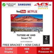 SAMSUNG Smart TV 75 Inch 4K UHD Television can Youtube Netflix Anycast Televisyen Free TV Bracket Hdmi 电视机 電視機 75TU7000