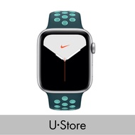 [U Store] Apple Watch Nike Series 5 GPS Alumimium Case with Sport Band Silver Aluminium Case with Pure Platinum/Black Nike Sport Band 40MM