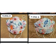 🔥HOT ITEM🔥FACE MASK FLORAL DAISY EASY CARE FREE GIFT READY STOCK HEADLOOP EAR LOOP