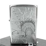 【ZIPPO】美系-Eagle and Lady Liberty torch(火炬鷹貼飾打火機)