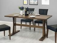 !新生活家具!《比利》150cm餐桌 休閒桌 會議桌 書桌 白蠟木 實木 胡桃色 美式 歐式 商業空間
