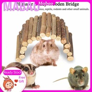 Hamster Bendy Wooden Bridge Ladder House Flexible Funny Drawbridge for Reptile Mice Rodents Small Animal Chew Toy