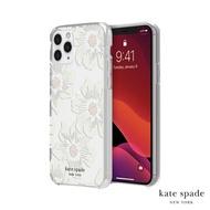 Kate Spade Hollyhock Floral iPhone 11 Pro/Max 白色大花透明殼+小鑲鑽