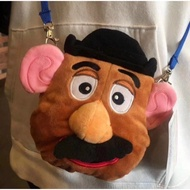 ☆貓貓代購☆日本 迪士尼 DISNEY 玩具總動員 土豆先生 蛋頭先生 造型 毛絨 卡包 票夾 零錢包 斜挎包