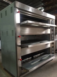 Electric and gas 3 deck commercial oven with 12 trays