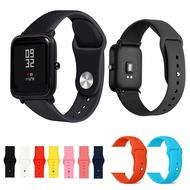 現貨特價 米動手錶 青春版 純色硅膠錶帶  小米華米Amazfit反釦透氣錶帶 米動運動手錶 20MM 配開關生耳