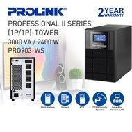 PROLiNK 3KVA / 2400W Pure Sine Wave Online UPS with AVR Computer Server Medical Equipment Backup Power PRO903WS