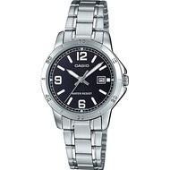 Casio นาฬิกาข้อมือผู้หญิง สายสแตนเลส รุ่น LTP-V004 ของแท้ประกันศูนย์