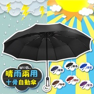 🇹🇼老婆叫我買🇹🇼十骨晴雨兩用傘 超大傘 一鍵自動開收雨傘 折疊傘 摺疊傘 防曬遮陽傘 傘 自動傘 雨傘 遮陽傘