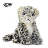 Hansa 6356-坐姿雪豹寶寶18公分