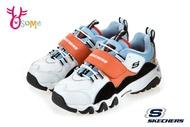 Skechers ONE PIECE航海王吉貝爾 海賊 D'LITES2.0 中大童 限量聯名運動鞋慢跑鞋 S8237#黑橘◆OSOME奧森鞋業