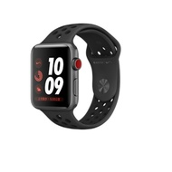 Apple Watch Series 3 GPS+行動網路 42mm Nike+太空灰鋁/黑運動(MQL42TA/A)