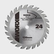 【WORX 威克士】120mm 24T 木工鋸片 TCT硬質合金鋸片(WA5046)