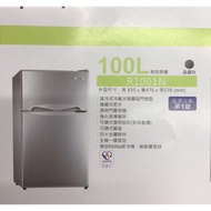 東元TECO 小冰箱 100公升 雙門小冰箱 一級能效 R1001N