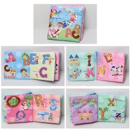 1pc Baby Early Learning Soft Cloth Books Creative Squeak Crinkle Book Puzzle Toys Gifts for Kids