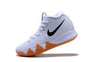 100% Brand รองเท้าบาสเก็ตบอล Original_Nike_Kyrie_Irving_4 สีขาวผู้ชายบาสเก็ตบอลรองเท้า Global ขาย