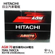 HITACHI 日立 AGM 70 VOLVO BMW BENZ 專用電池 免運 START STOP 電瓶 哈家人
