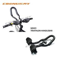 [CRONUS.MY] BICYCLE TRIATHLON AERO TRI BARS HANDLEBAR BIKE