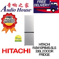HITACHI R-B410P6MS-SLS 330L 2 DOOR FRIDGE ***1 YEAR HITACHI WARRANTY***