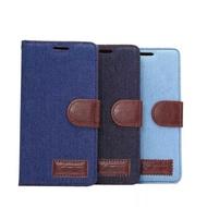 【清倉】SONY Z3+ Z4 牛仔布紋支架插卡皮套 索尼 Xperia Z3+ 側翻保護套 保護套