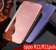 OPPO R11 誠礜電鍍鏡面翻蓋式手機皮套