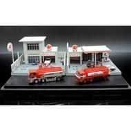 【M.A.S.H】[現貨瘋狂價] Tomytec 1/150 兩款出光加油站+兩款出光油罐車+四台小車