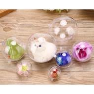 【嚴選SHOP】5入壓克力球 吊球 透明球 塑膠球 永生花球 婚禮小物 空心球 吊飾球 聖誕球 扭蛋球金莎球【L019】